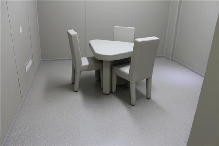 软包三角谈话桌询问桌 审讯室专用桌