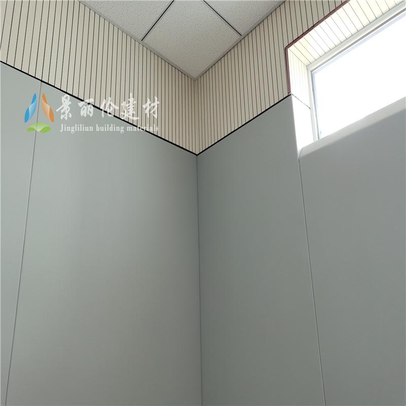 宁夏省办案区墙面软包安装案例