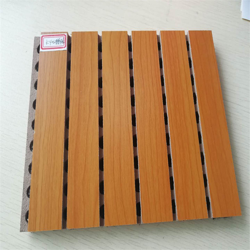 吸音工程案例木质吸音板材料