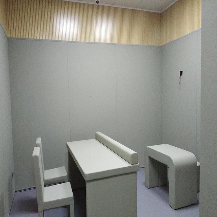 鸡西审讯室防撞软包 羁押室墙面皮革软包 广东阻燃软包厂