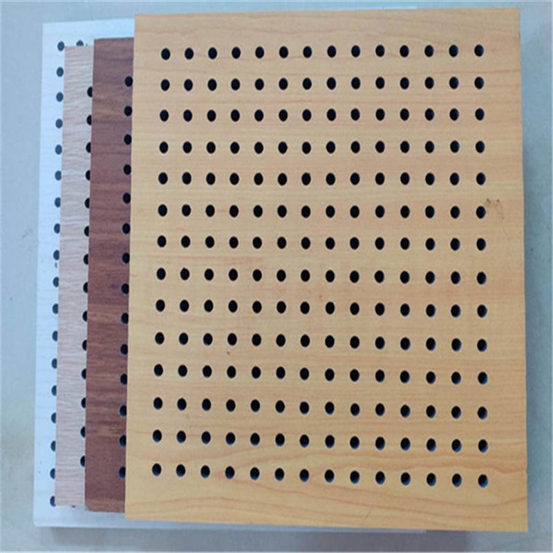 电影院静化空间安装孔木吸音板