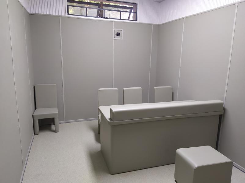 办案区谈话室墙面防撞软包整体安装建设