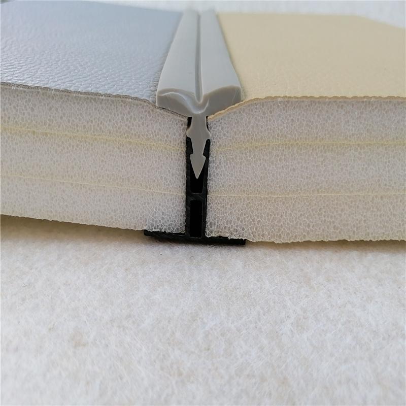 审讯室墙面软包防撞辅料硅胶收口条