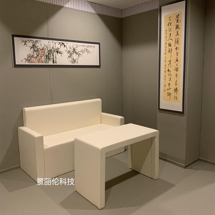 纪检委谈话室软包桌椅-双人沙发