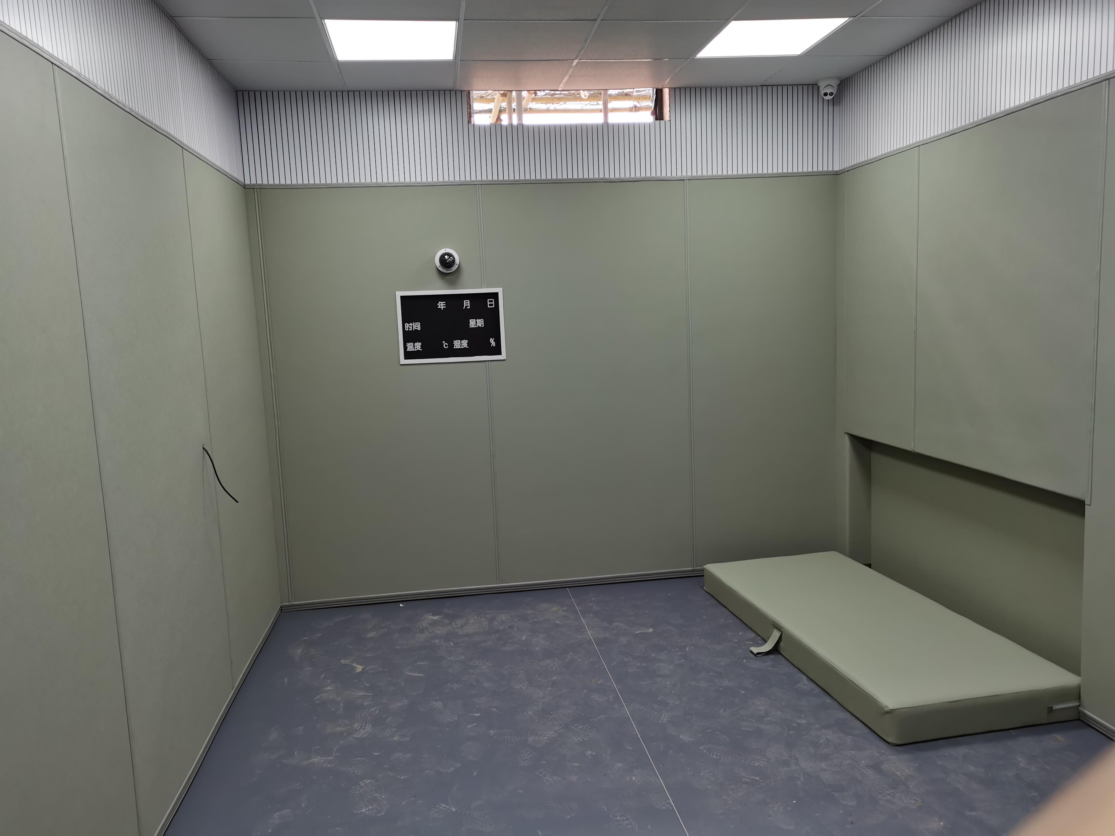 公检法办案中心防撞软包 皮革防撞墙定做